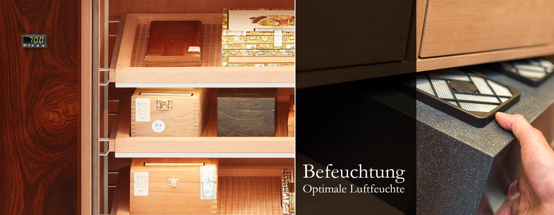 Befeuchtungssysteme Gerber Humidor