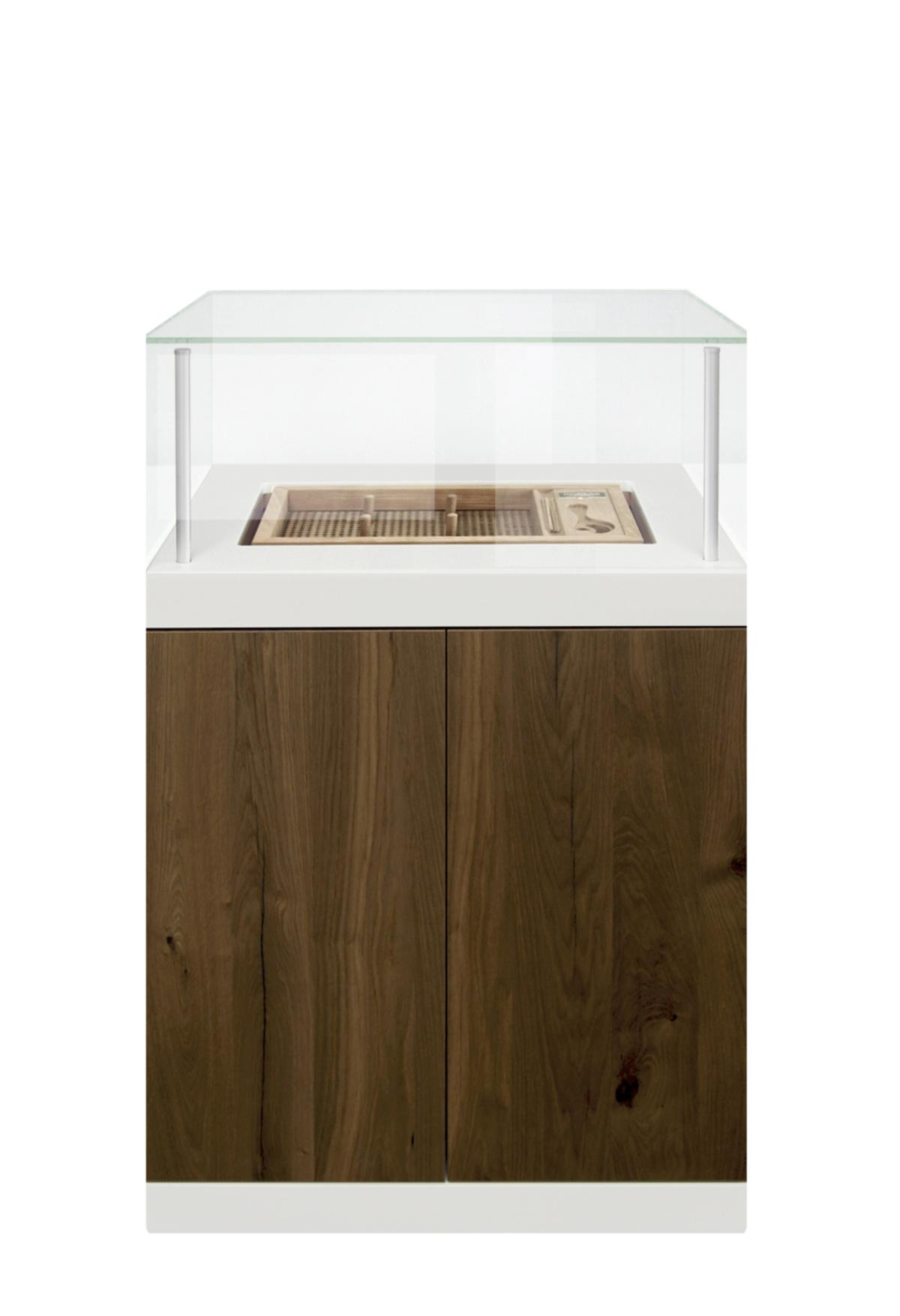 Gerber Humidor Ascension Medium Eiche Antik Kranz Corian