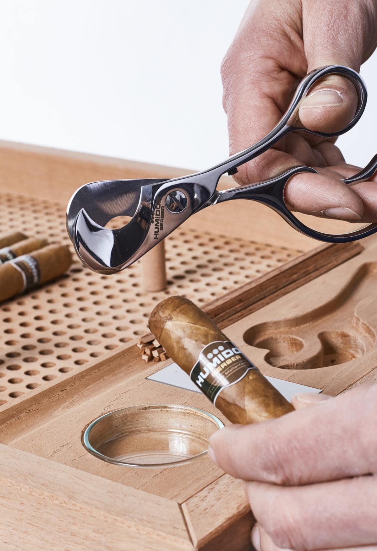 Gerber Humidor No.1 Serviceboard mit Zigarrenschneider