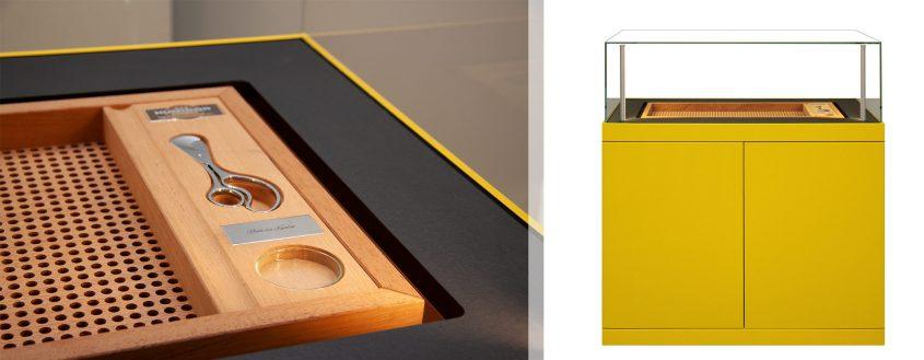 Gerber Humidor Ascension in gelber Außenhülle mit Serviceboard