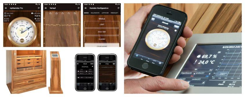 Neue App zur Steuerung des Humidors