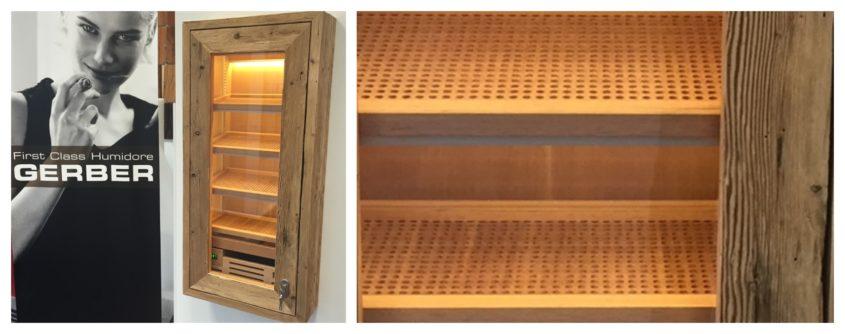 Humidor Zigarrenschrank Einbaulösung Vintage Befeuchtung Zigarren